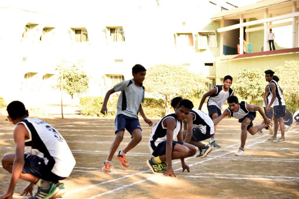 Boys Playing KHO-KHO in Annual Sports Day